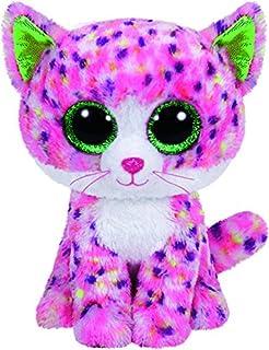 Juguete de peluche TY de niña, Sophie de color rosa, gato de color rosa de 15 cm