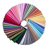 50 Piezas 20 por 20 cm Tela de Multicolor Patchwork de Algodón Telas Cuadradas...