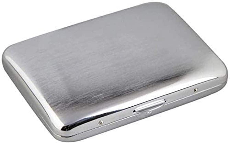 ZXNRTU Extra Slim Stainless Steel Over item handling ☆ Holds 20 Cigare Case Cigarette trust