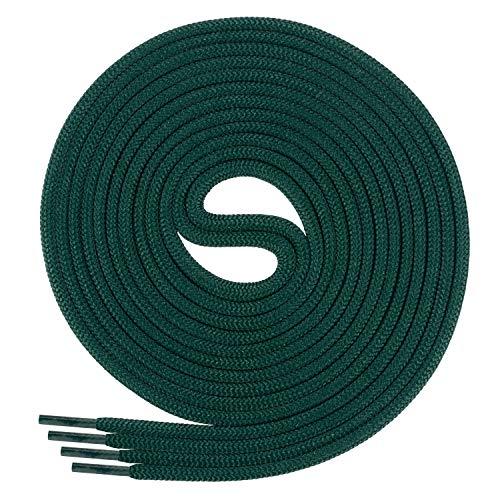 Di Ficchiano Schnürsenkel, Rundsenkel für Business- und Lederschuhe, reißfester Allroundsenkel, ø 3mm Farbe dunkelgrün Länge 60cm