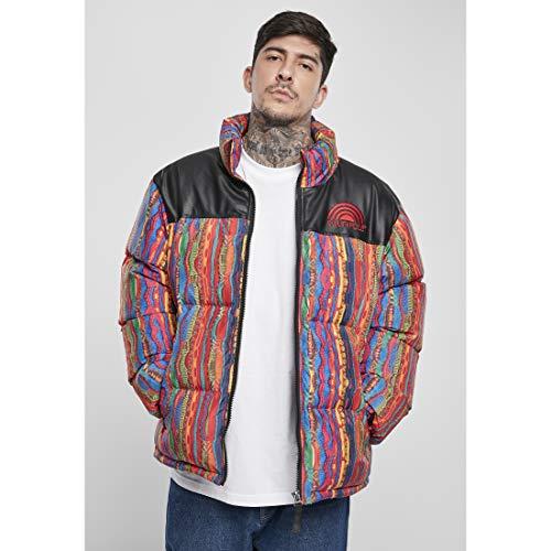 Southpole Herren Puffer Winterjacke Multicolored Pattern Jacket, Bunt, XXL