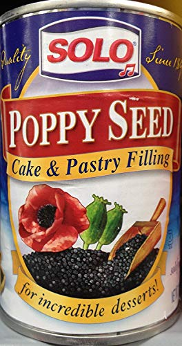 Solo Poppy Seed Cake & Pastry Filling -- 12.5 oz Each / Pack of 2