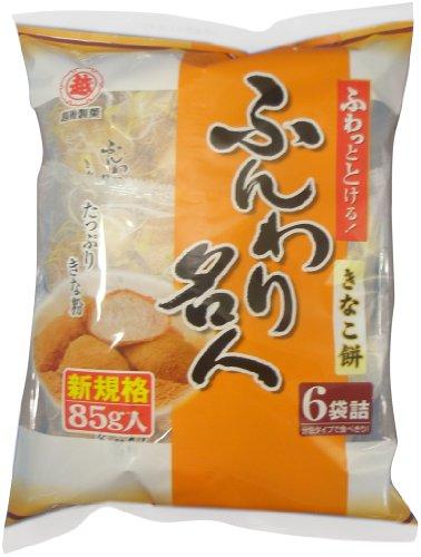 (お徳用ボックス) 越後製菓 ふんわり名人きなこ餅 85g×12袋