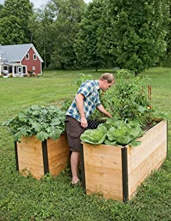 Cedar Keyhole Elevated Raised Bed Garden with Integrated Composter