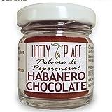 HABANERO CHOCOLATE aromatico intenso POLVERE Piccante MEDIO Peperoncino 10g vaso