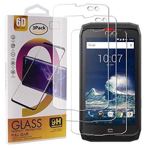 Guran 3 Pezzi Pellicola Protettiva in Vetro Temperato per Crosscall Action-X3 Smartphone 9H Durezza Anti-Impronte HD Alta Trasparenza Pellicola
