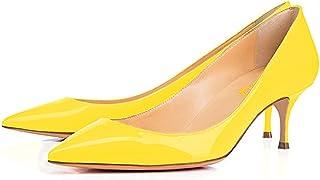 f89bd640585 FSJ Women Classic Kitten Heels Pointy Toe Pumps Office Ladies Dress Shoes  Size 4-15