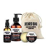 kit cuidado de barba: Beard Bag ✔ consiste en champú, aceite y bálsamo para la...