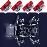 QWCZY 4PCS Car Door LED Light Projector Ghost Shadow Lights Welcome Lamp Door Logo Lights -for Benz A/B/C/E/M/GL Class
