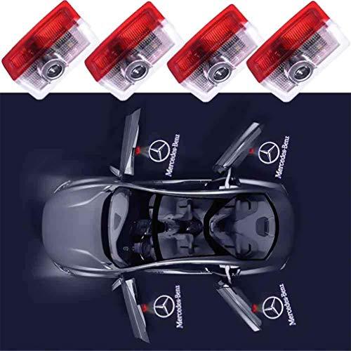 QWCZY 4PCS Auto-Tür-LED-Lichtprojektor-Geist-Schatten-Lichter Willkommen Lampe Tür-Logo Lichter -für Benz A/B/C/E/M/GL-Klasse