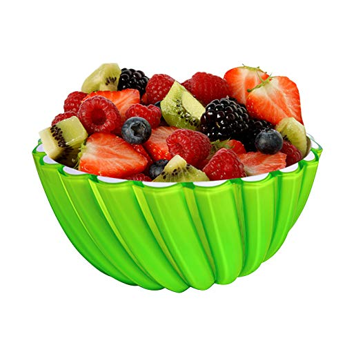 Large Salad Bowl,Snack Serving Dish,Big Serving Bowls for Salad, Cereal,Rice, Candy Bread or Fruit,26.5 Ounce,100 OZ Capacity,9.6 Inch Diameter (Green)