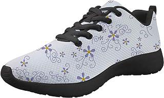 Amzbeauty Chaussures de sport pour femme - Style décontracté - Motif floral - Taille 35 à 42