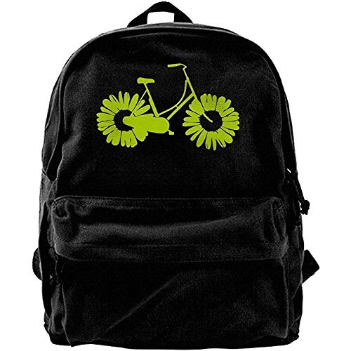 Yuanmeiju Herren Canvas Blcak Rucksack Schulter Klassische Reisetasche Gelb ISY Bike Travel Rusack, Schultasche