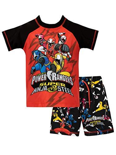 Power Rangers Bañador de Dos Piezas para niño Ninja Steel Roja 7-8 Años