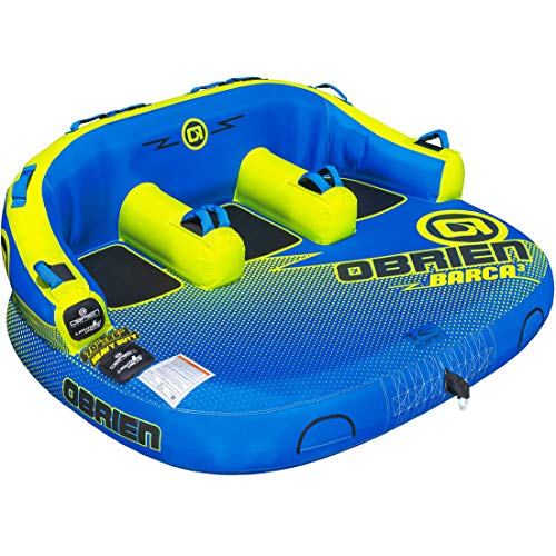 O'Brien Barca 2 Person Inflatable Towable Tube, Yellow