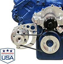 Alternator Bracket for Big Block Ford 429 460 Engines with Electric Water Pump and Ford Alternator; Low Mount