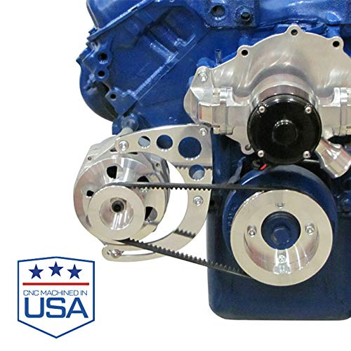 Alternator Bracket for Big Block Ford 429 460 Engines with Electric Water Pump and GM Alternator; Low Mount