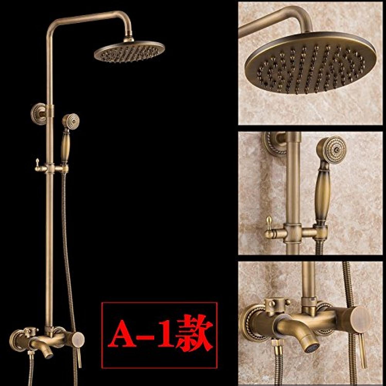 GFEI Retro bathroom shower shower Suite   shower faucet, all bronze antique shower set,A