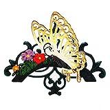 Sungmor - Soporte para Manguera de jardín de Hierro Fundido Resistente | Soporte de Pared para Manguera de Agua | Carrete Decorativo para Interior y Exterior | 50 pies 75 pies 100 pies