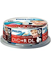 Philips DVD+R ruwe (8.5 GB Data/240 minuten video, 8x High Speed Opname, dubbele laag DL) 25er printable