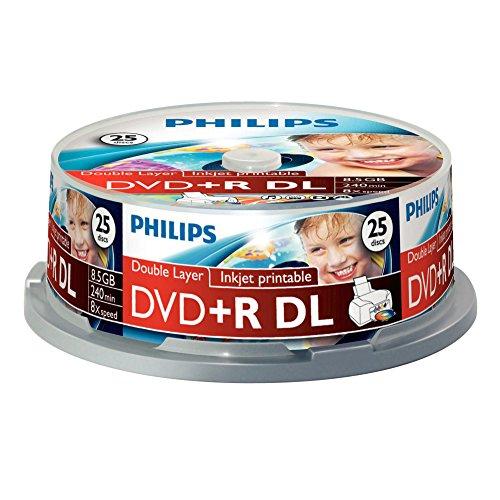 Philips DVD + R De 8,5 GB / 120 Min/DL 8X Tarrina (25 Disc)