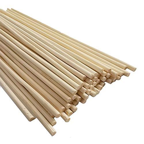 luckything 50PCS Bambusstäbe, Bambus Rankhilfe Pflanzenhalter Pflanzstab Rankstab, Pflanzenstüze Rankgitter Aus Bambus Stöcke Pflanzenstützen Für Die Herstellung Von Gartenstativen