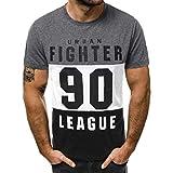 Camisetas Hombre Manga Corta Nuevo Promociones Blusa Impresión Tops Hombre Verano Reducción de Precio