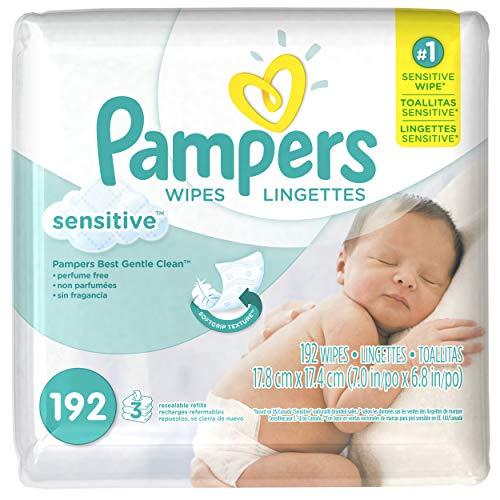 Pampers Sensitive, Toallas Húmedas para Bebé, 192 Toallas