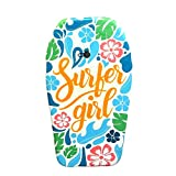 Nantucket Surf 33 Body Board - Body Boards with EPS Core & Wrist Leash, Body Boards for Beach, Beach Accessories for Adults & Kids Outdoor Toys (Surfer Girl)