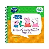 Vtech 80-480404 MagiBook Lernstufe 1 Lustige Geschichten mit Peppa Pig Lernbuch, Mehrfarbig -