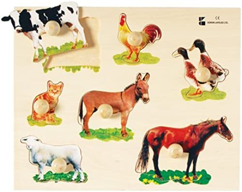 Farm Animals Photo Knob Puzzle by Constructive Playthings