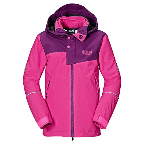Jack Wolfskin Mädchen 3in1-Jacke Girls Snow Wizard Jacket, Pink Passion, 164