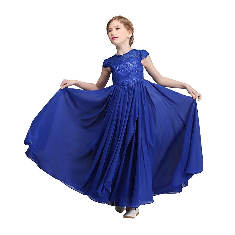 giminuoピアノ発表会 ドレス 子供ドレス ジュニアドレス 演奏会 発表会 結婚式 ブルー ワンピース フォーマル ゴージャス 女の子