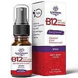 Organic Vitamin B12 with Methylcobalamin - Energy Booster Sublingual Liquid Spray 3000mcg - Vegan Non-GMO Fast Absorbing 1oz 60 Servings