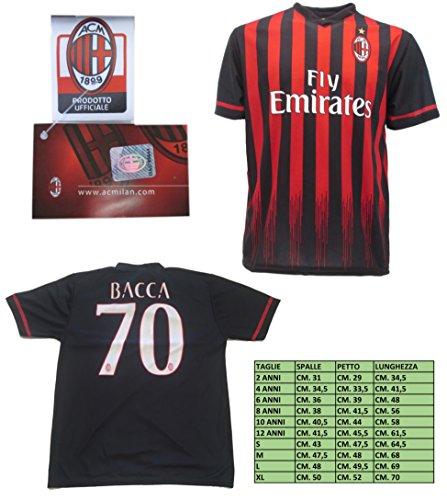 Milan Maglia Bacca 70 Replica Ufficiale 2016-2017 Tutte Le Taglie (M)