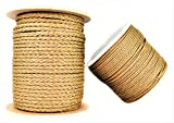SGT KNOTS Hollow Braid ProManila - Lightweight, Multi-Purpose Rope - Moisture and Element Resistant (1/4' x 1000ft Spool, Tan)
