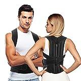 AEVO Corrector de Postura con Soporte Completo, Soporte de espalda para Mejora Postura, Alivia el Dolor de espalda, Soporte ajustable y transpirable para cuello, espalda y hombros, M