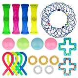 Zhangpu Anti Stress Spielzeug Set, 20 Stück Sensory Fidget Toys Set, Blumenkorb Magische Drahtkunst, Fidget Toys for Kids and Adults für Stressabbau und Anti-Angst für Kinder und Erwachsene ADD ADHS