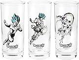 Dragonball Set di 3 Bicchieri (29 cl) - Assalto a Freezer di Goku e Vegetha - Abystyle