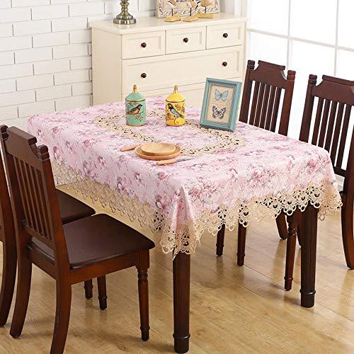 ZZKHSM Mantel Cocina Comedor Mesa de té Mesa de café -Purple_60x60_cm
