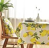 laokudy Mantel para el hogar, Protector de Fiesta de limón y Fruta Amarilla, Mantel de Lino, Cubierta de Mesa para Exteriores, Alfombrilla de algodón para Oficina, decoración 140 * 200 cm