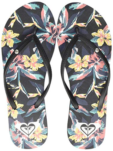 Roxy Bermuda Print, Zapatos de Playa y Piscina para Mujer, Multicolor (Anthracite Ant), 38 EU
