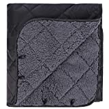 REDCAMP Large Warm Blanket with Sherpa Lining, Cold Weather Outdoor Blanket Windproof for Camping Stadium, Machine Washable 59'x 79'