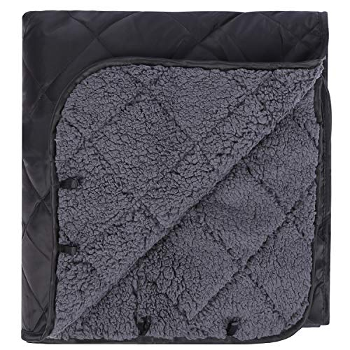 REDCAMP Large Warm Blanket with Sherpa Lining