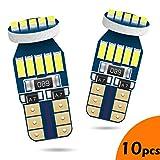 LUMENEX W5W T10 LED Bombillas CANBUS 194 168 2825 15SMD 12V para Coche Puertas Laterales Luces Domo Baúl Matrícula Luces Blanco 10PCS