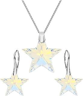 c9cce45257083b Valle Crystal & Stones Top – Stella – set di gioielli – Crystal AB – 925 d'  argento bello – Set di gioielli con cristalli di Swarovski Elements ...