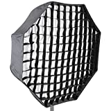 NEEWER 写真スタジオ31 /80cm八角形傘型撮影用ソフトボックス グリッド付き