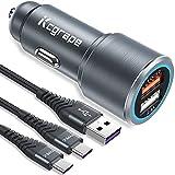 Auto/Kfz Ladegerät für Samsung Galaxy S20 S21 Plus Ultra FE 5G S8 S9 S10,Note 10 9 20,A70 A21S A42,Huawei P20 P30 P40 Lite Pro,Xiaomi Redmi Note 9S 8T,Quick Charge3.0 Ladestecker +2M*2 USB C Ladekabel