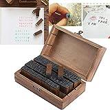 70 piezas de escritura a mano, letras del alfabeto, sellos de madera + kits completos de artesana en caja