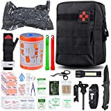 SUPOLOGY Emergency Survival First Aid Kit, 135-In-1 Trauma Kit with Tourniquet 36